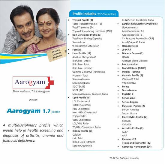 Aarogyam 1.7 Profile thyrocare