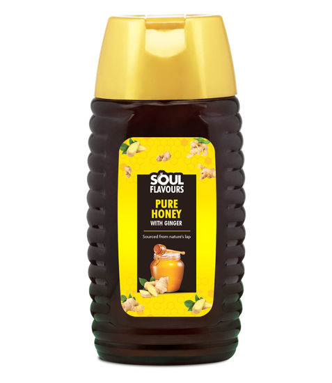 Picture of SOUL FLAVOURS PURE HONEY WITH GINGER (500G)