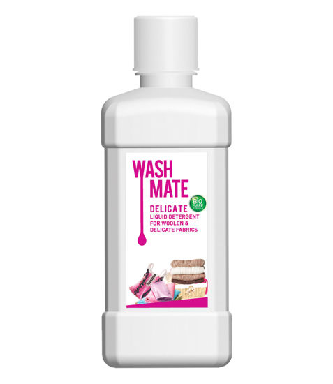 Picture of WASHMATE DELICATE LIQUID DETERGENT FOR WOOLEN & DELICATE FABRICS (BIOSAFE FORMULA(500 ML)