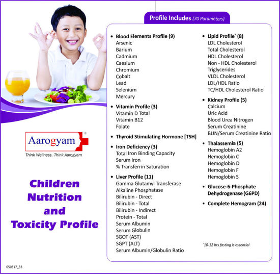CHILDREN NUTRITION AND TOXICITY PROFILE