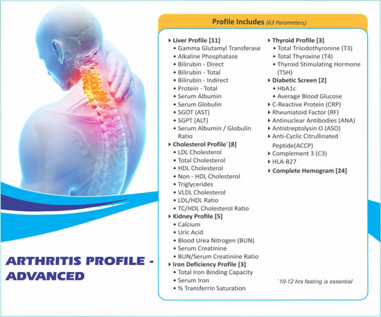 ARTHRITIS PROFILE ADVANCED thyrocare